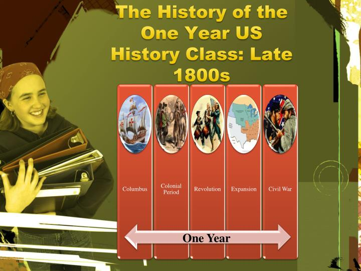 The History of the One Year US History Class: Late 1800s