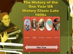 the history of the one year us history class late 1800s