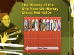the history of the one year us history class mid 1930s