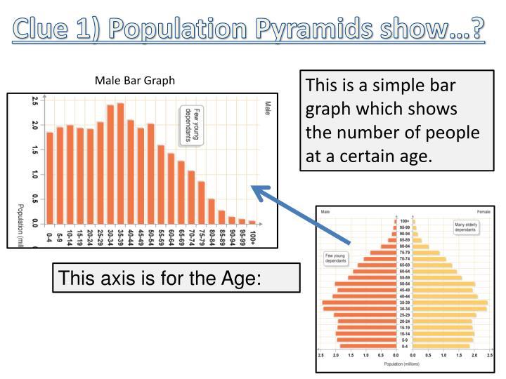 Clue 1) Population Pyramids show…?