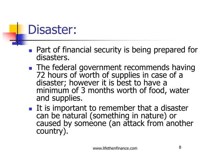 Disaster: