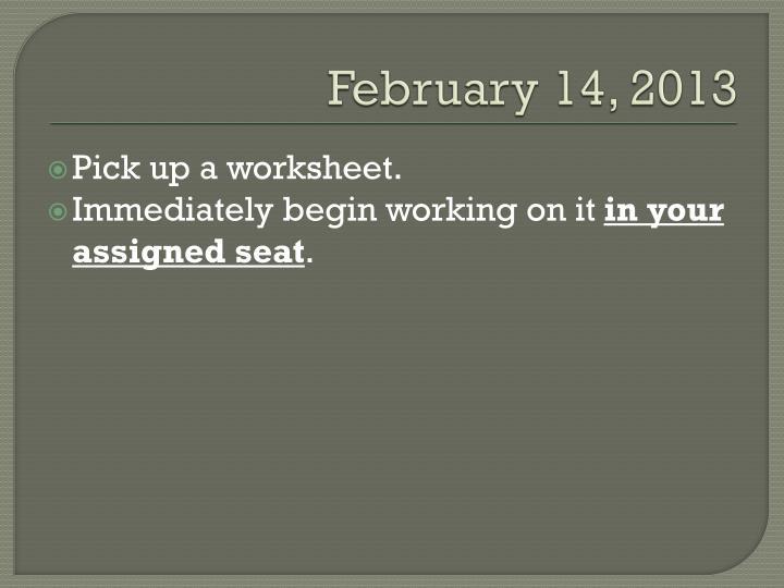 February 14, 2013