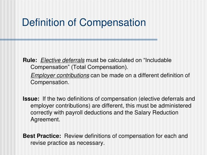 Definition of Compensation