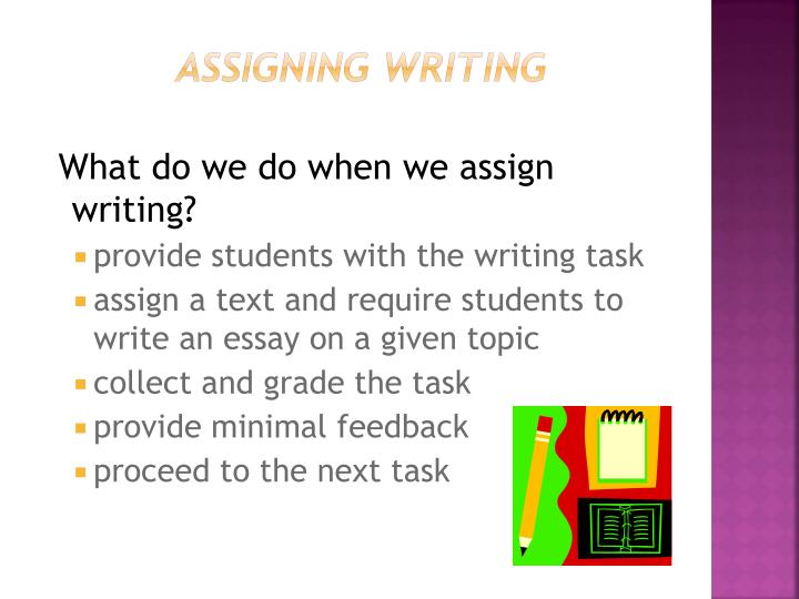 assigning writing