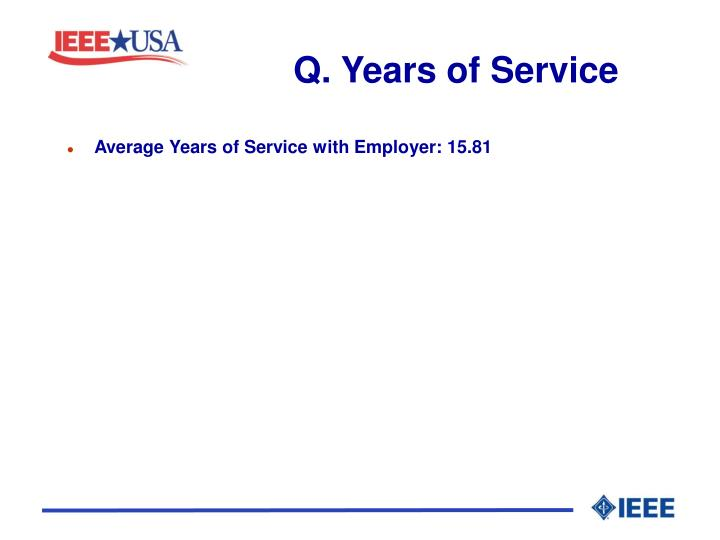 Q. Years of Service