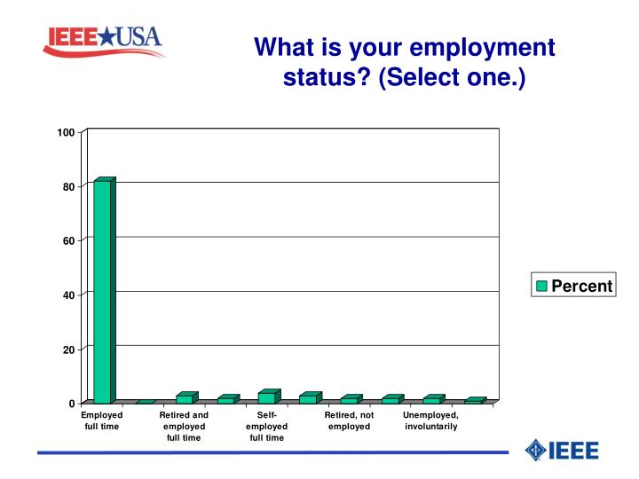 What is your employment status? (Select one.)