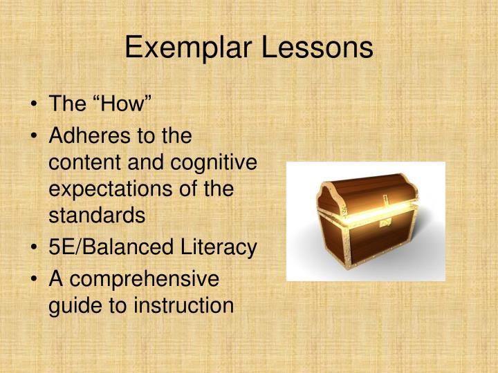 Exemplar Lessons