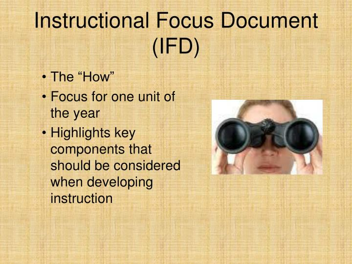Instructional Focus Document