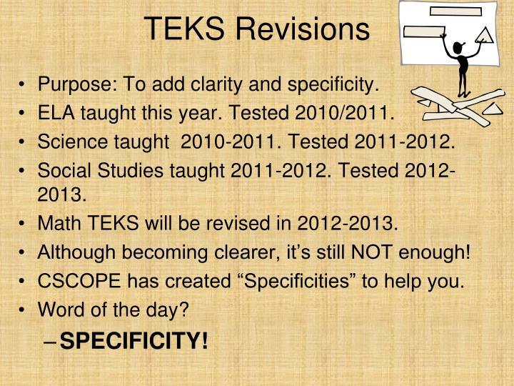TEKS Revisions