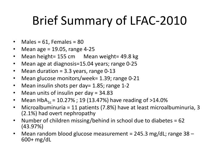Brief Summary of LFAC-2010