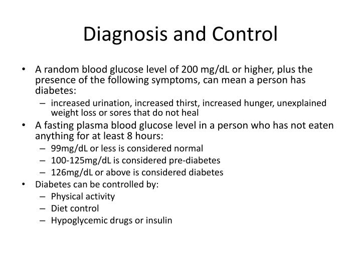 Diagnosis and Control