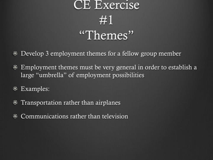 CE Exercise
