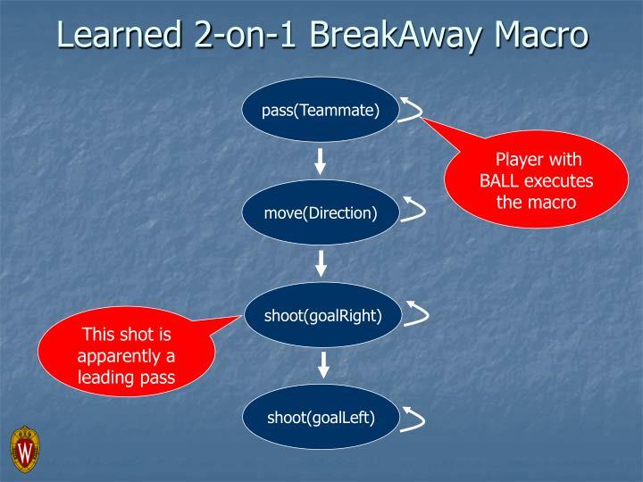 Learned 2-on-1 BreakAway Macro