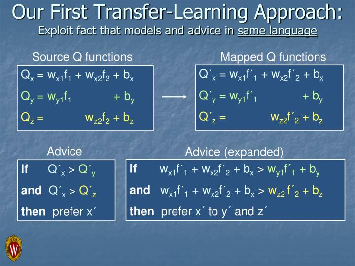 Our First Transfer-Learning Approach: