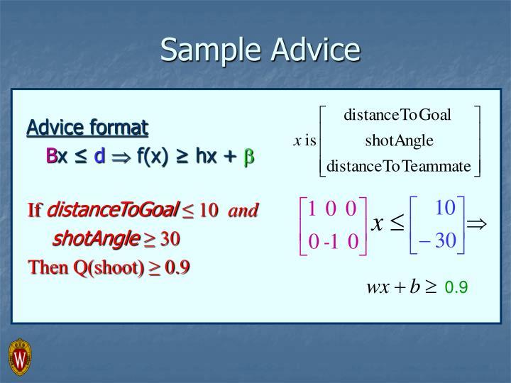 Advice format
