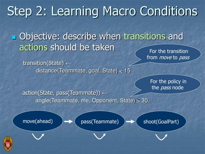 Step 2: Learning Macro Conditions
