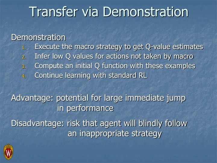 Transfer via Demonstration