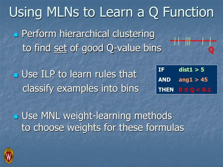 Using MLNs to Learn a Q Function