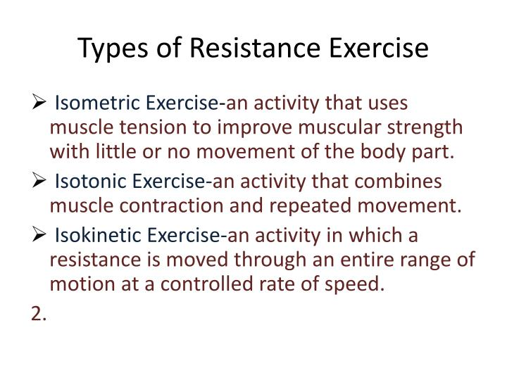 Types of Resistance Exercise