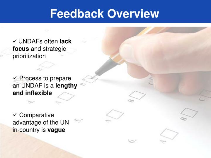 Feedback Overview