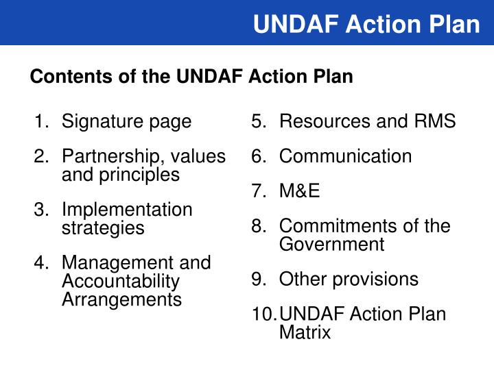 UNDAF Action Plan