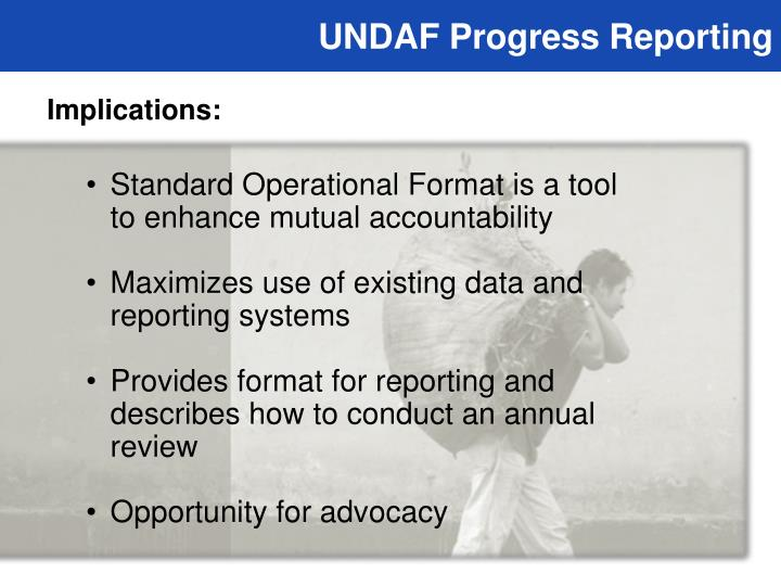 UNDAF Progress Reporting