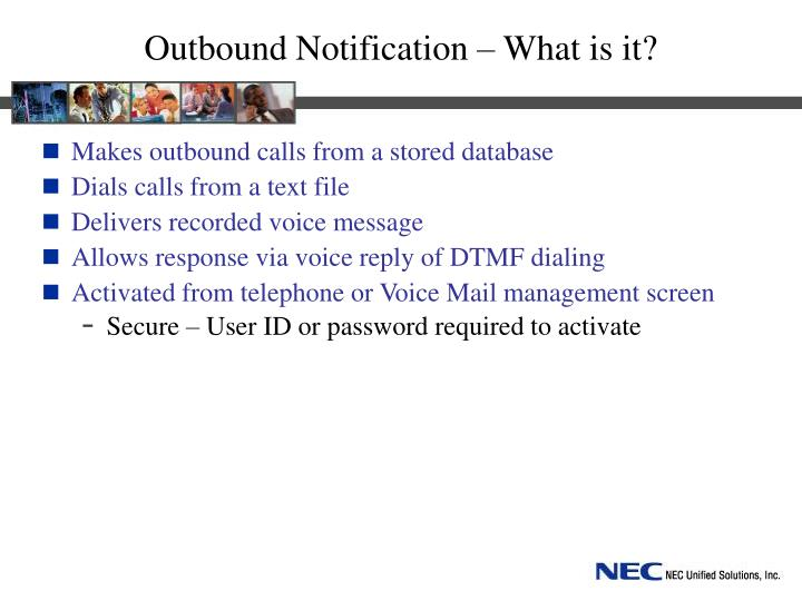Outbound Notification – What is it?