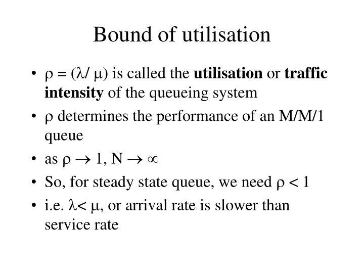 Bound of utilisation