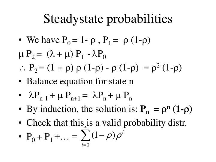 Steadystate probabilities