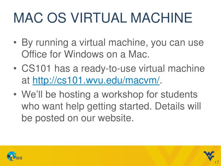 Mac OS Virtual Machine