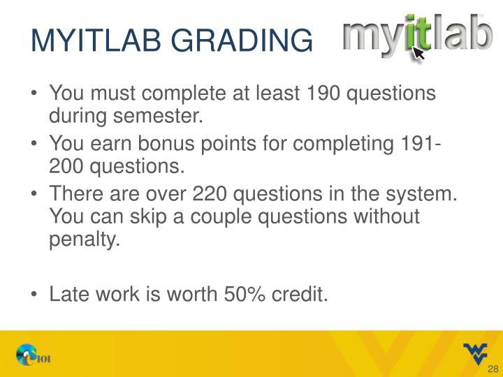 MyITLab grading