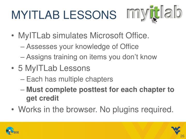 MyITLab lessons