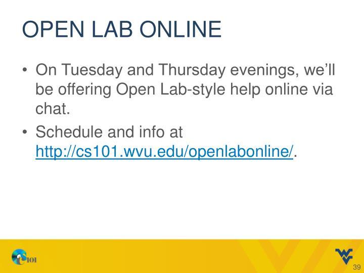Open Lab Online