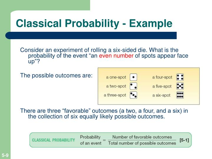 Classical Probability - Example