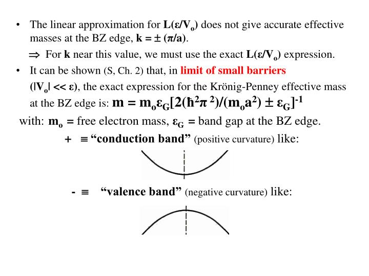 The linear approximation for
