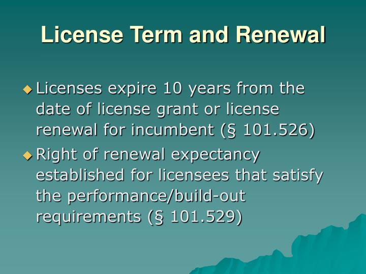 License Term and Renewal