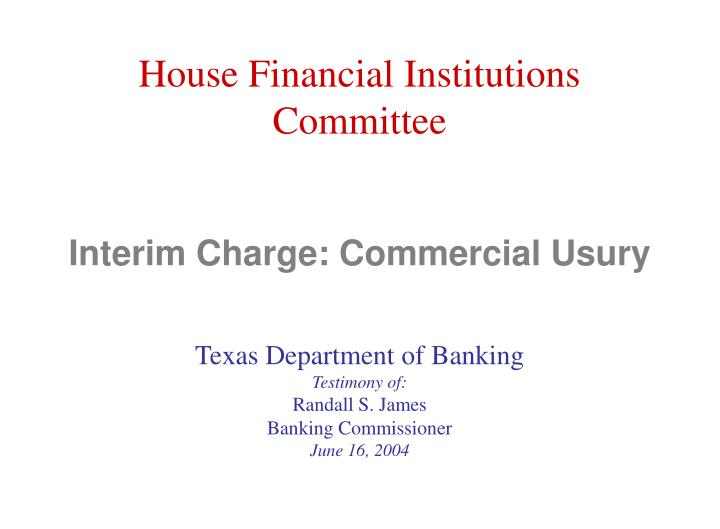 Interim charge commercial usury