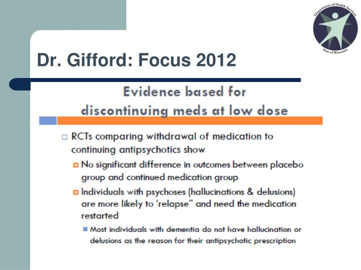 Dr. Gifford: Focus 2012