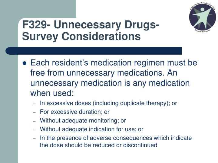 F329- Unnecessary Drugs-