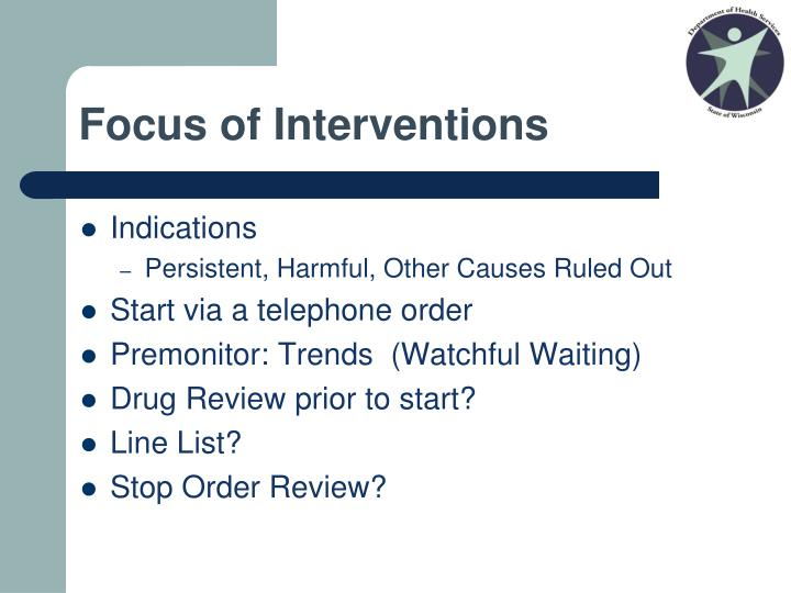 Focus of Interventions
