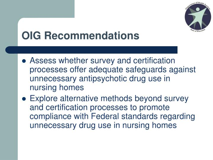 OIG Recommendations