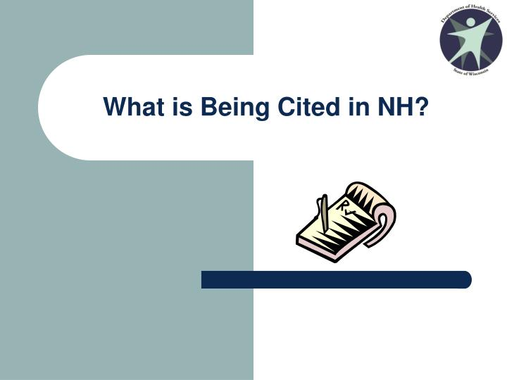 What is being cited in nh