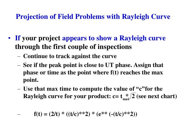 Projection of Field Problems with Rayleigh Curve