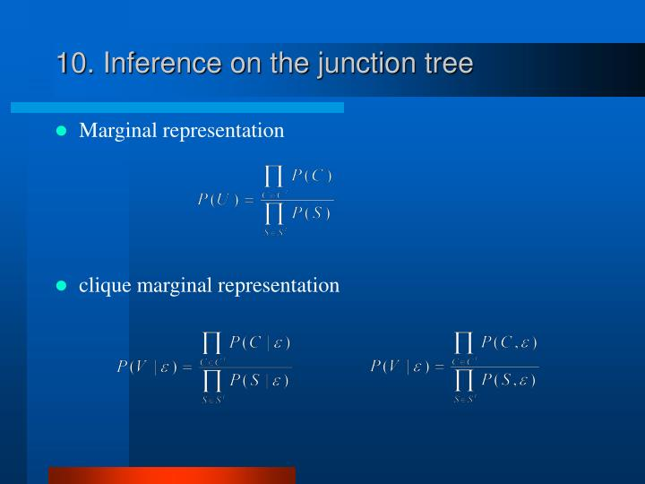10. Inference on the junction tree