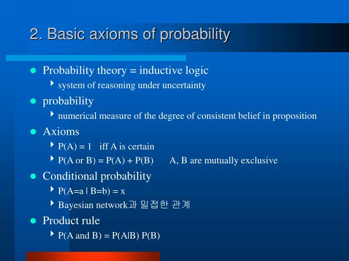 2 basic axioms of probability