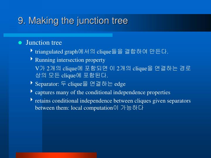 9. Making the junction tree