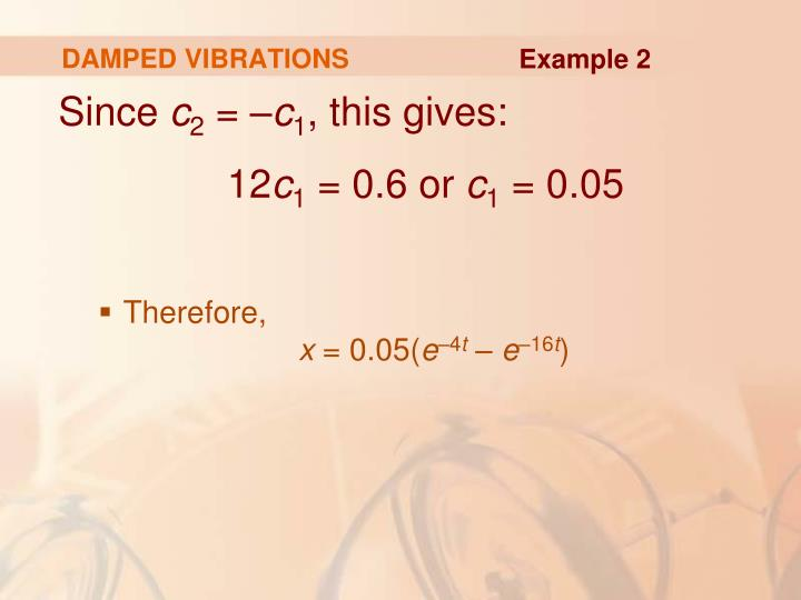 DAMPED VIBRATIONS