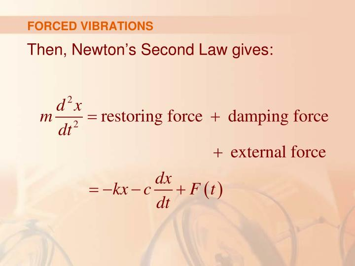 FORCED VIBRATIONS
