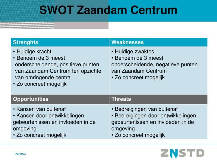 SWOT Zaandam Centrum