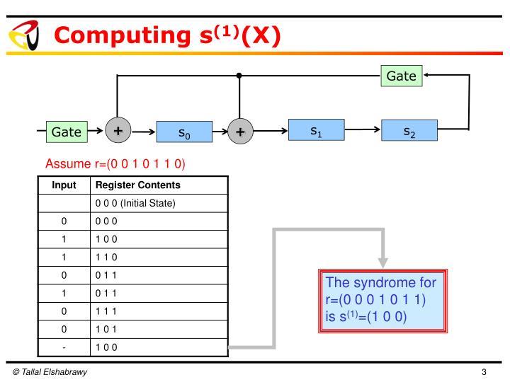 Computing s